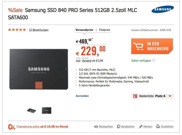 Samsung Evo 840 Pro MLC