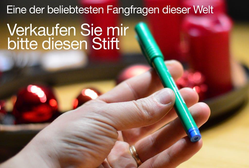 """Die beste Antwort auf die Frage """"verkaufen Sie mir diesen Bleistift"""""""