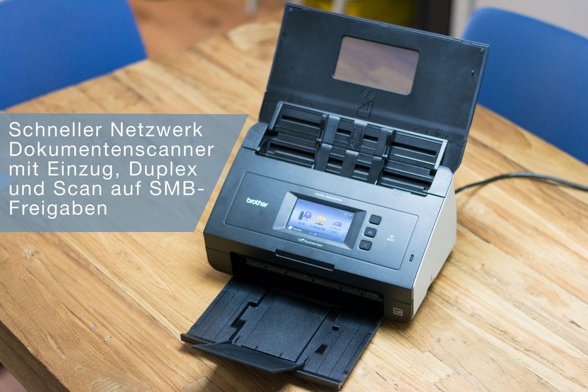 Schneller Netzwerk Dokumentenscanner mit Einzug, Duplex und Scan auf SMB Freigaben