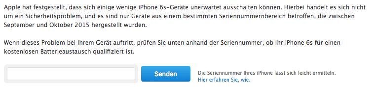 Apple iPhone 6s Akku tauschen lassen