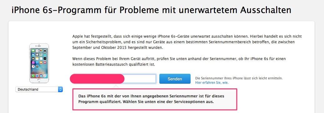 Ist Dein iPhone 6s Akku auch vom Batterygate betroffen? Teste es online!