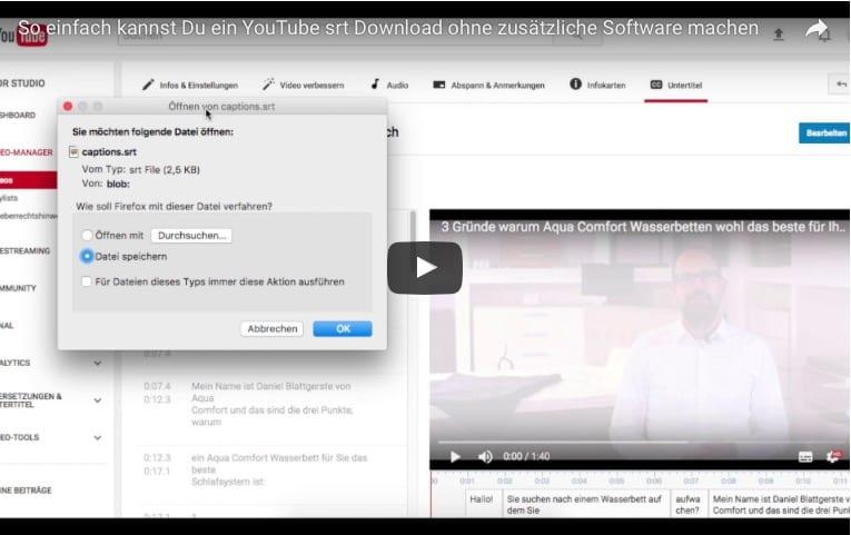 kann man untertitel herunterladen youtube