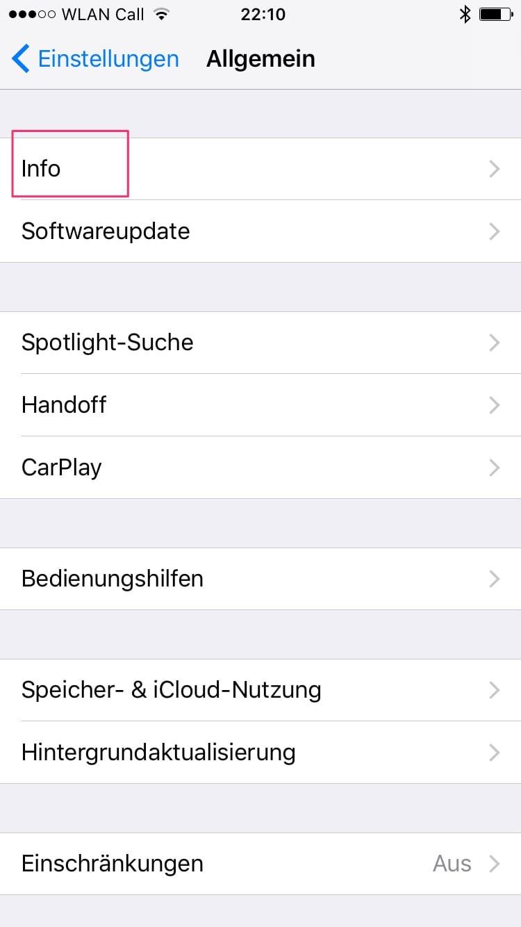 So schaust Du nach, ob Du bereits das Airpods Firware Update 3.7.2 installiert bekommen hast Schritt 2