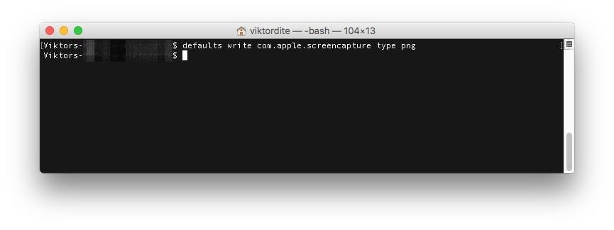 Mac Screenshot Dateiformat PNG