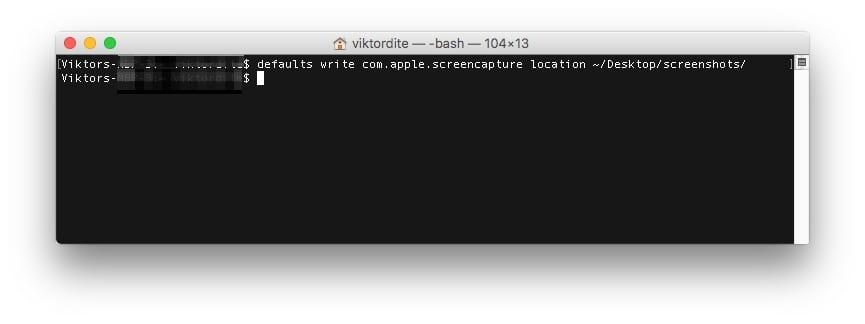 Mac Bildschirmfoto Speicherort im Terminal ändern