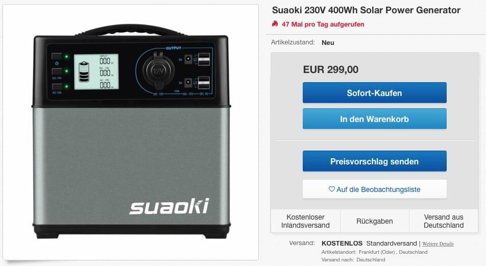 Suaoki 400Wh Angebot