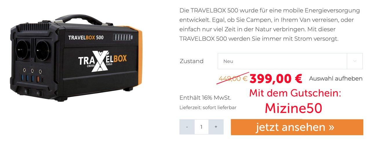 Travel Box 500 Solar Generator