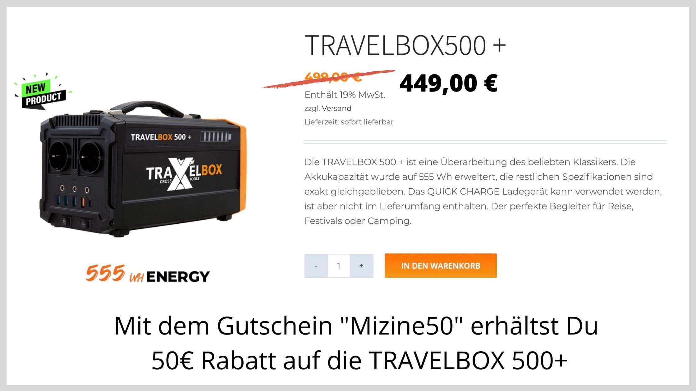 TRAVELBOX 500+ günstig kaufen
