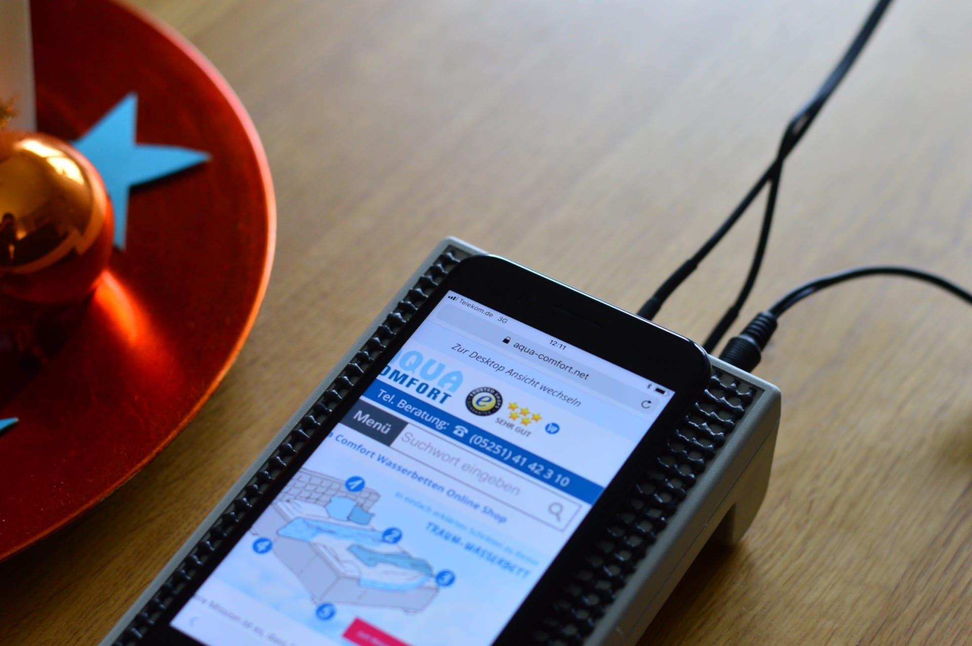 iPhone LTE Empfang im Haus (EG) mit aktivem LTE Koppler und einer Fensterantenne