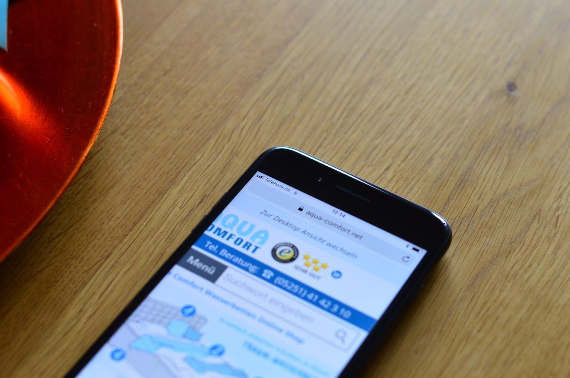 Maximales Signal am iPhone im inneren des Hauses