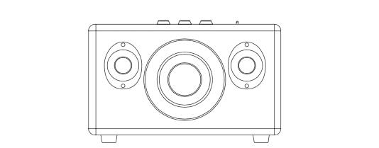 Interner Aufbau der Stereo Lautsprecher und des Subwoofers im Marshall Kilburn