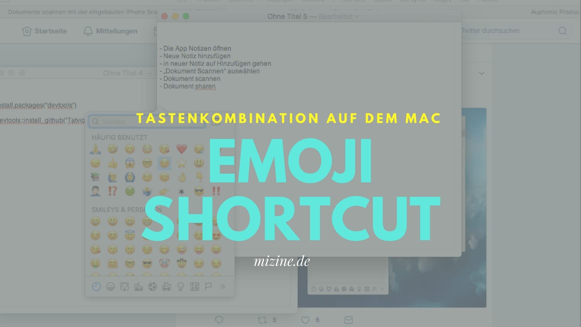 Emoji Shortcut am Mac
