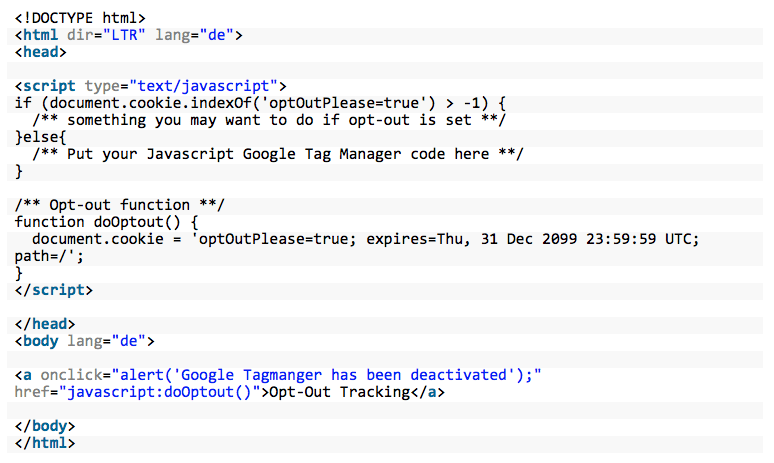 Google Tag Manager DSGVO konform einbinden