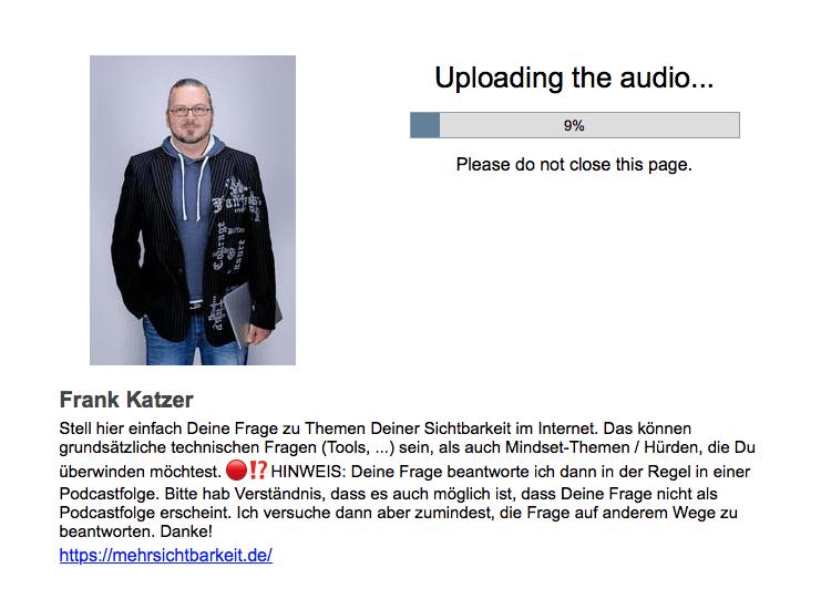 Liebe Leute, das ist hier die Zukunft des Podcast!