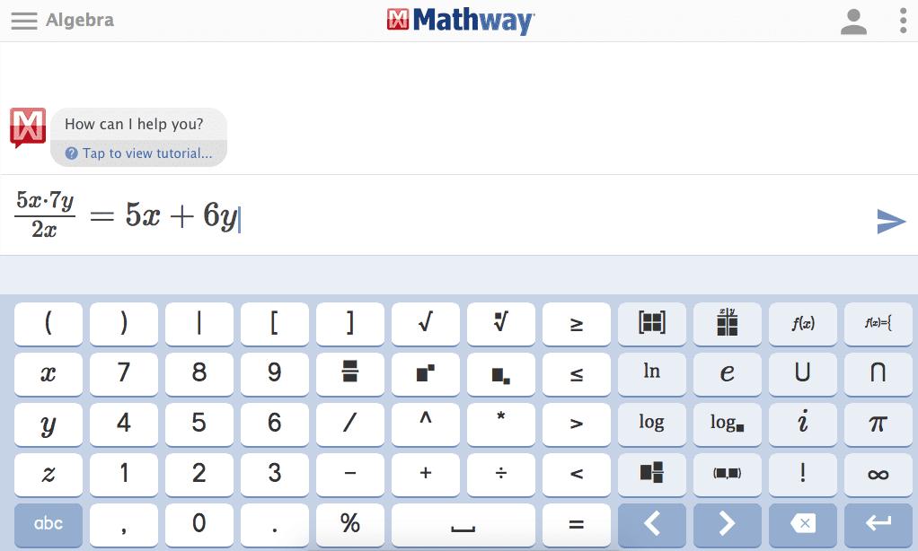 MathWay löst Gleichungen mit Lösungsschritten auf