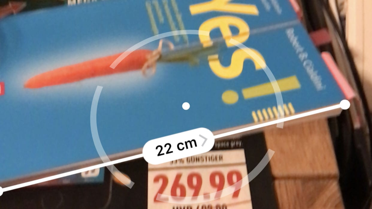 iOS 12 Measurement App Maßband Genauigkeit