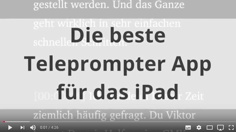 Pages ist die beste iPad Telepromter App