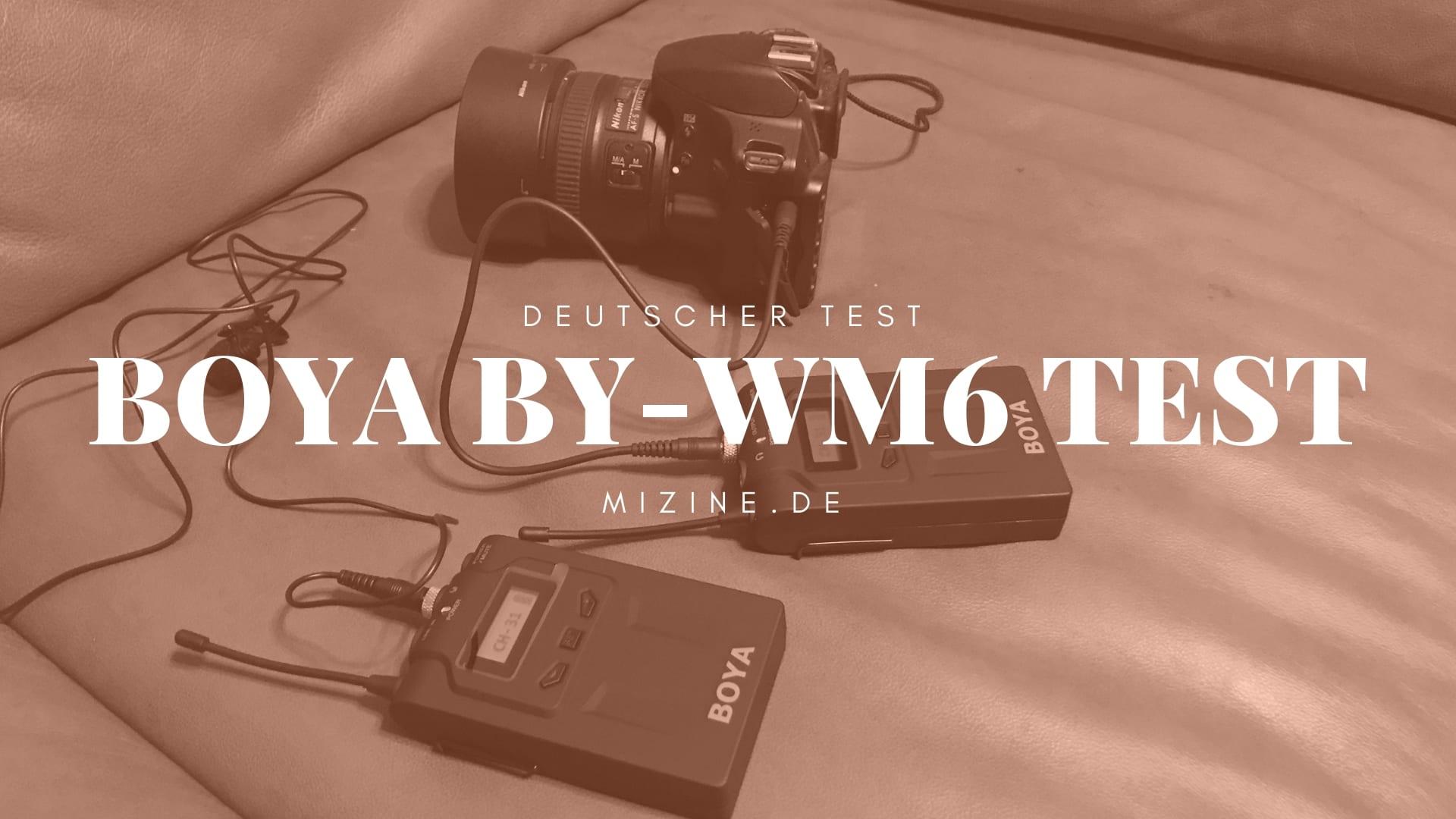 Boya BY-WM6 Test auf Soundqualität im Vergleich zum RODE SmartLav+ und Boya BY-BM1 Mikrofon