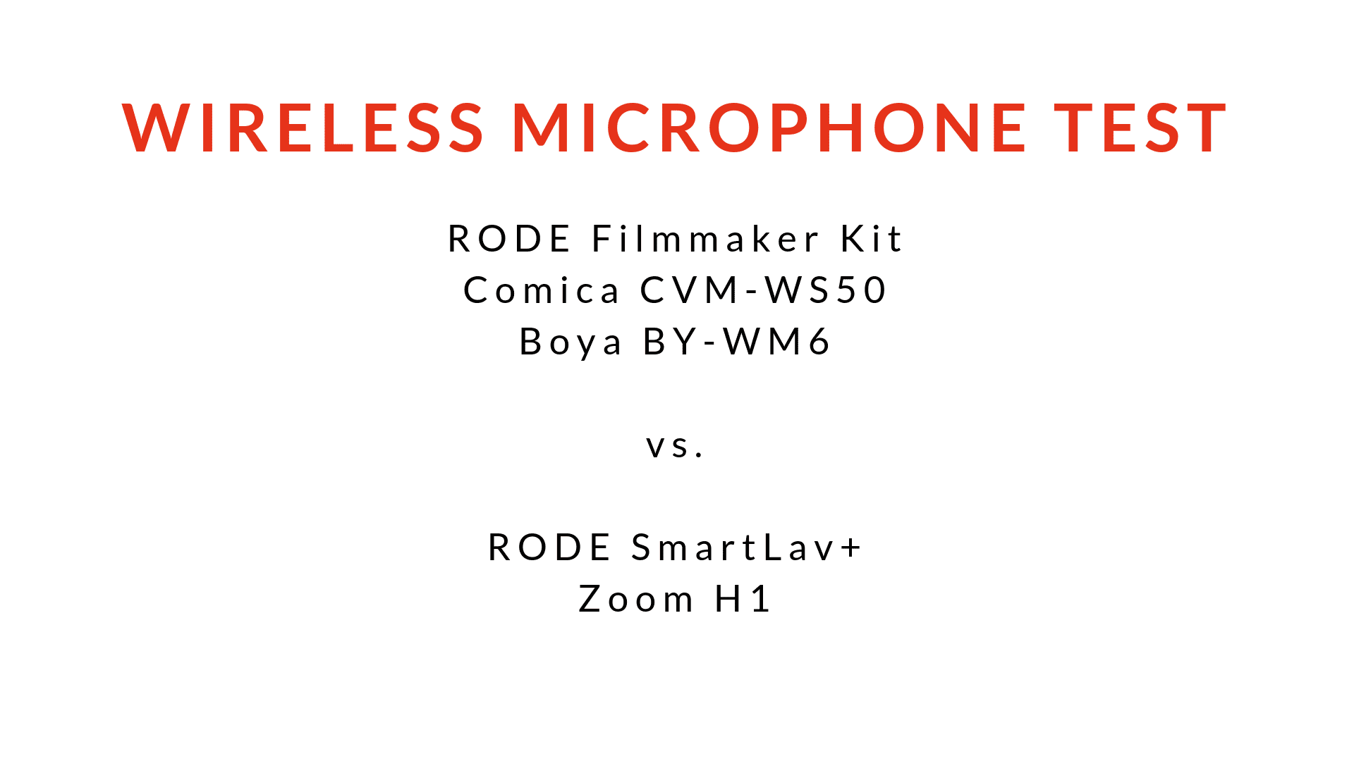 Soundquality Test of 3 cheap wireless lavalier microphones