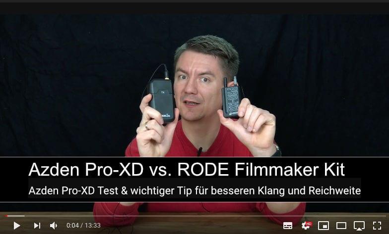 Azden Pro-XD Wireless Lavalier Funk Mikrofon Test & wichtiger Tip für besseren Klang und Reichweite