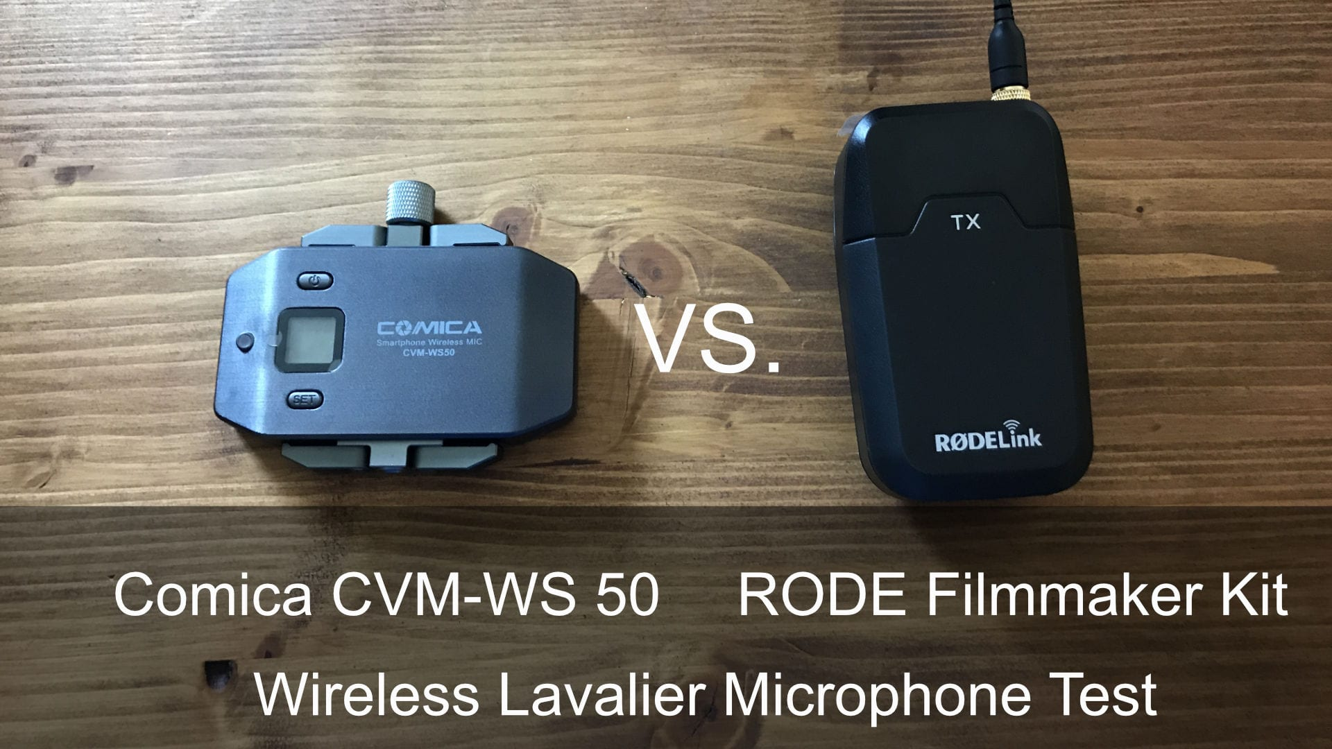 Vergleich: RODE Filmmaker Kit vs. Comica CVM-WS50 wireless lavalier Mikrofone