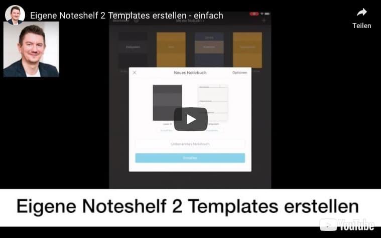 Noteshelf 2 Vorlagen erstellen und einbinden
