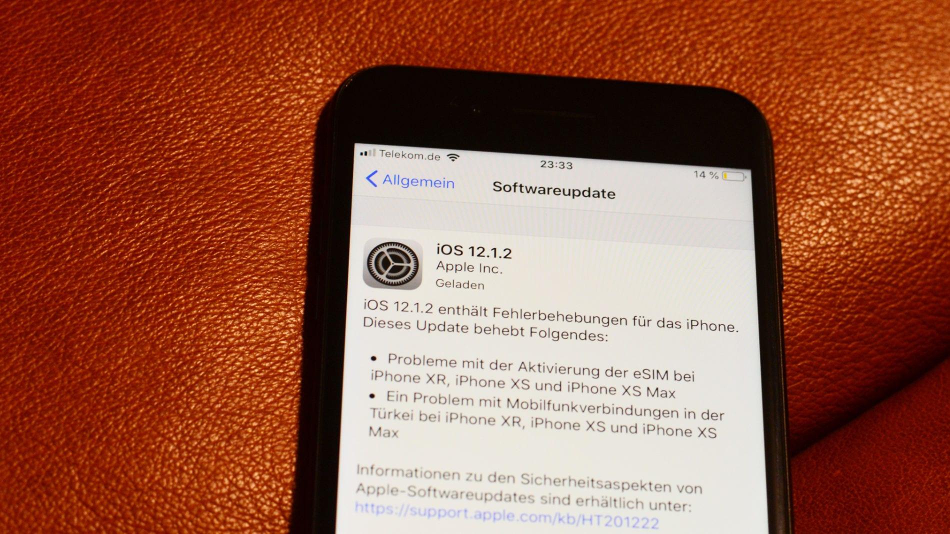 iOS 12.1.2 Update Probleme? Nein! So geht es!