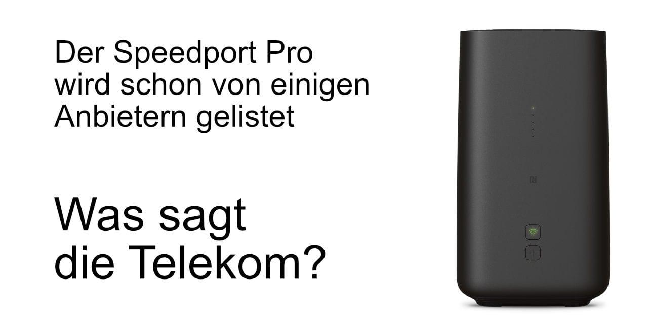 Wann kommt der Speedport Pro Telekom?