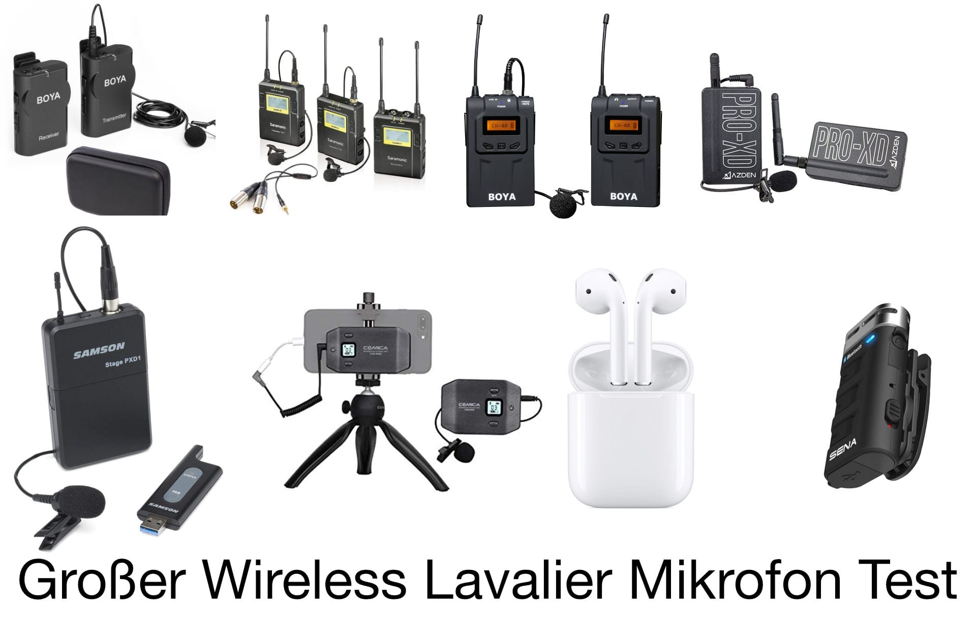 Wireless Lavalier Mikrofon Funk Test