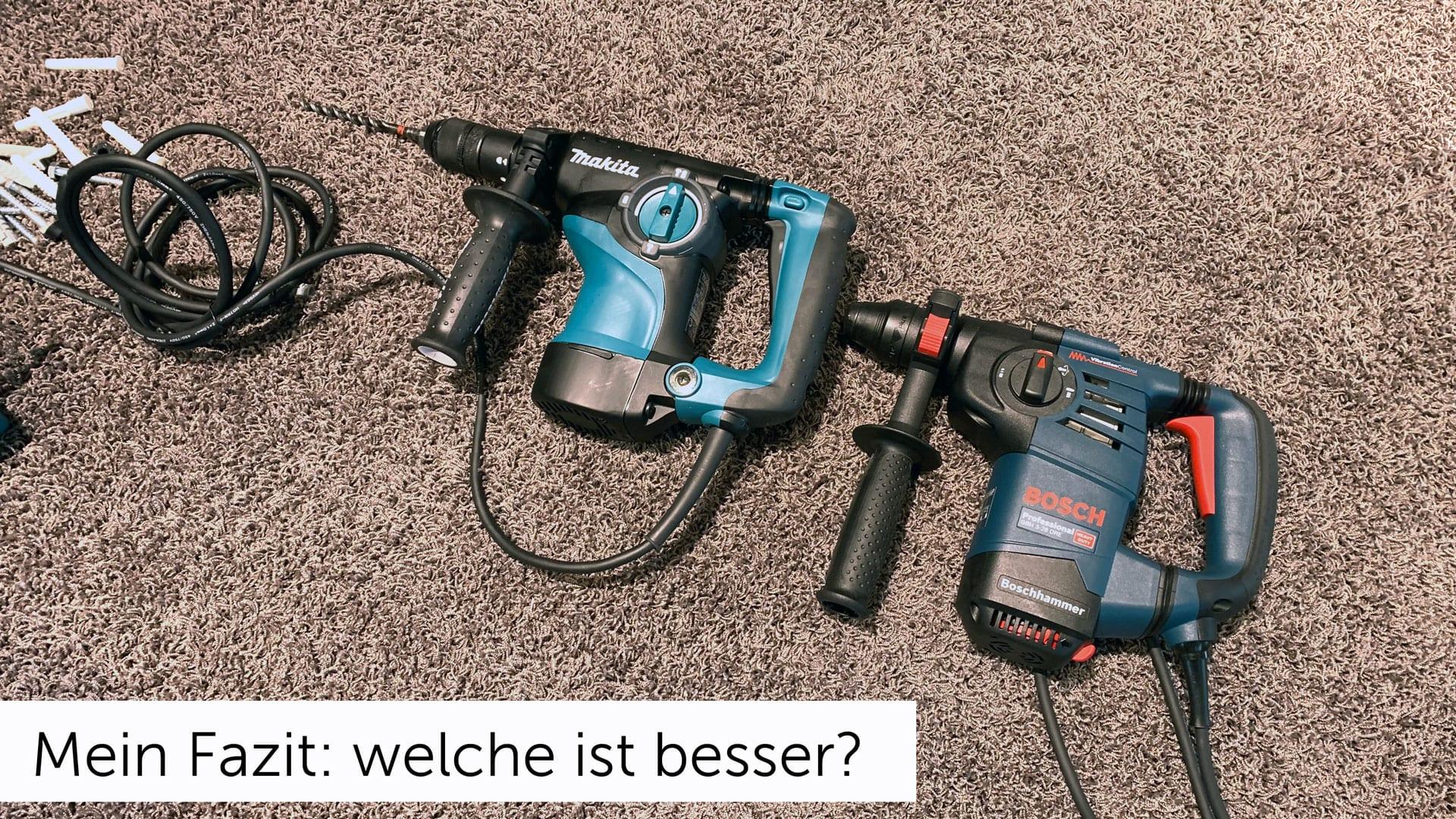 Makita vs. Bosch Bohrhammer