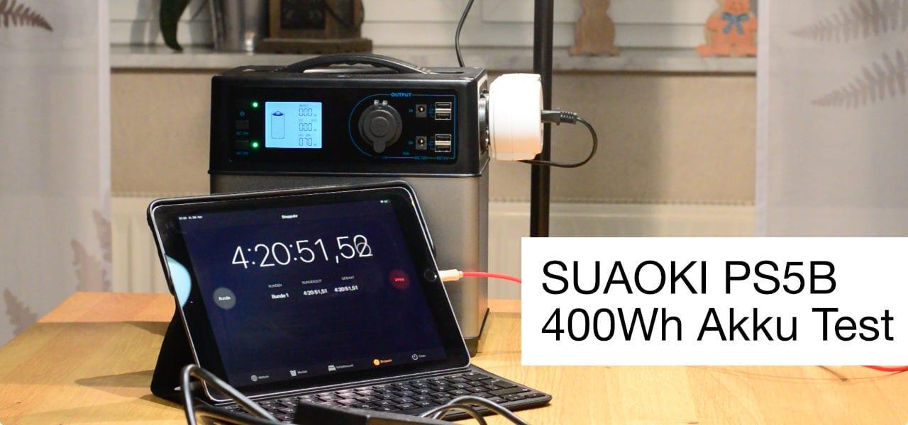 SUAOKI 400Wh 230V Akku Test