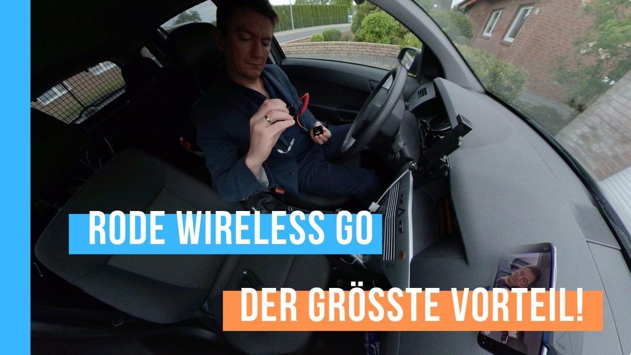 Der größte Vorteil vom Rode Wireless Go Funkmikrofon