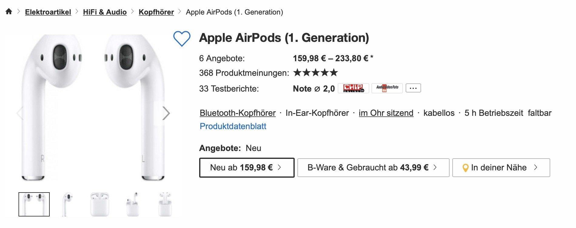 Airpods 1 kaufen