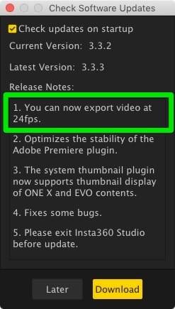 Wichtiges Update der Insta360 Studio App behebt das Problem