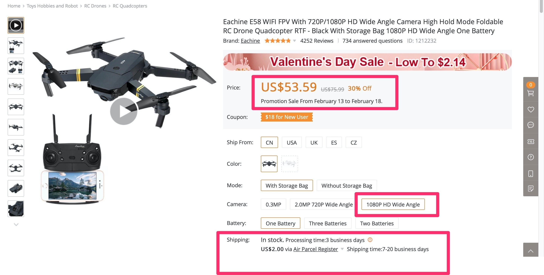 DroneX Pro Bangood
