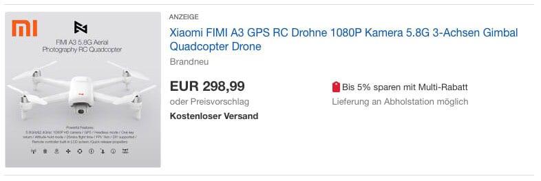 Fimi A3 Drohne auf eBay