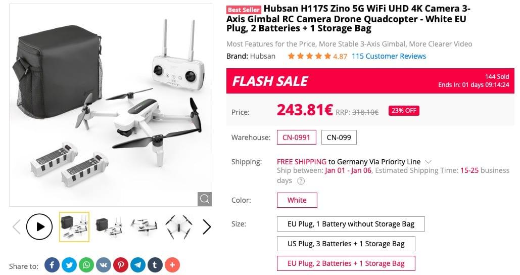 Hubsan Zino H117S Drohne