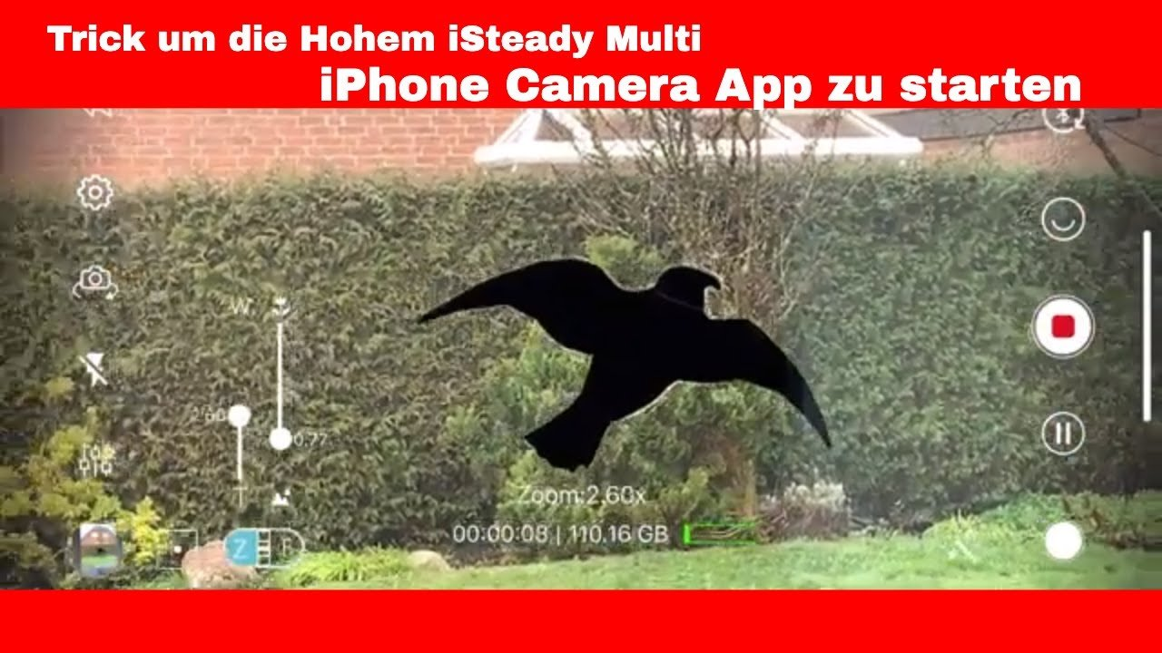 Hohem iSteady Multi iPhone Camera App starten (Trick)