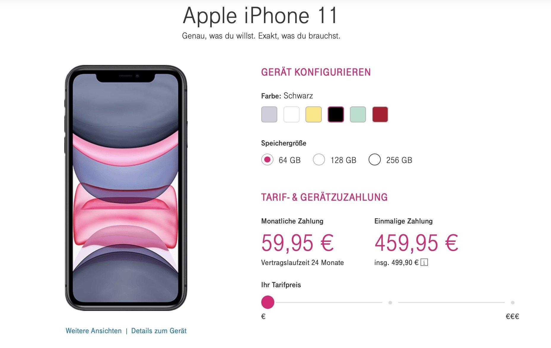 iPhone 11 bei der Telekom