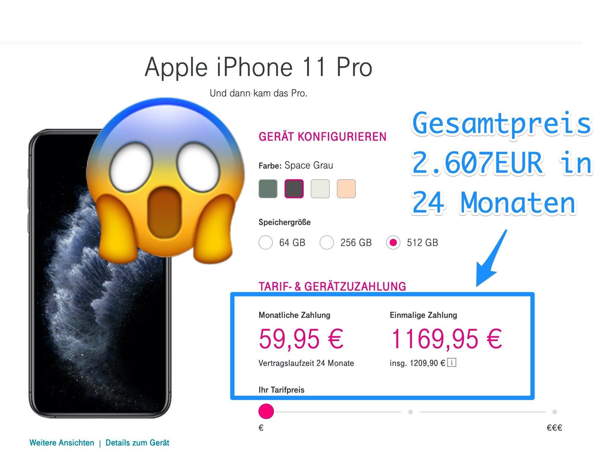 iPhone 11 Pro bei der Telekom