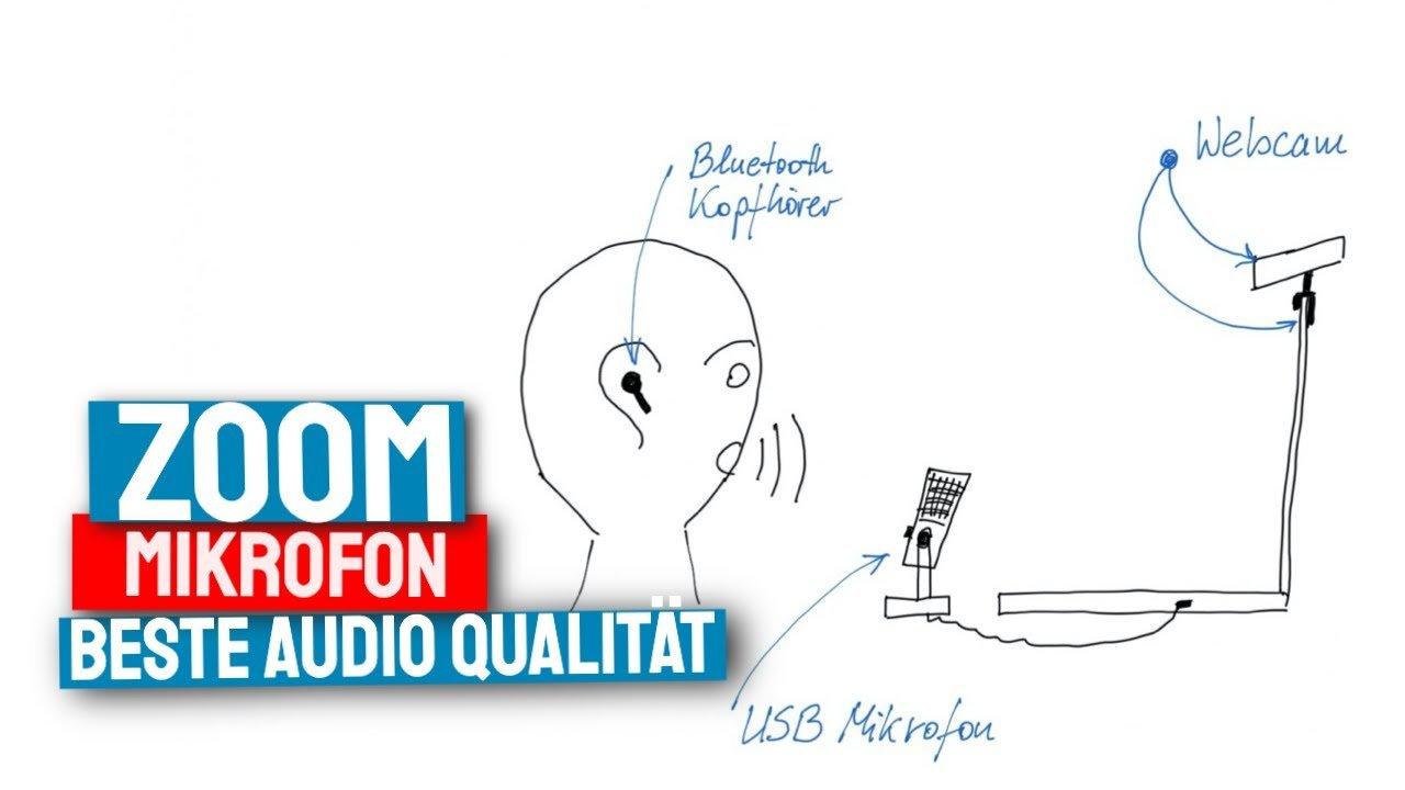 externes Mikrofon für Zoom Meeting Konferenzen
