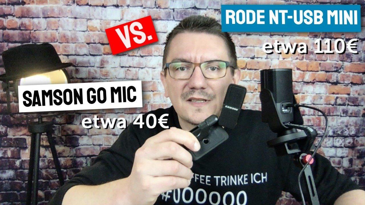RODE NT USB mini vs. SAMSON GO MIC USB – USB Mikrofon für YouTube oder Videokonferenz
