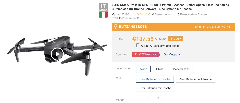 SG906 Pro 2 Drohne
