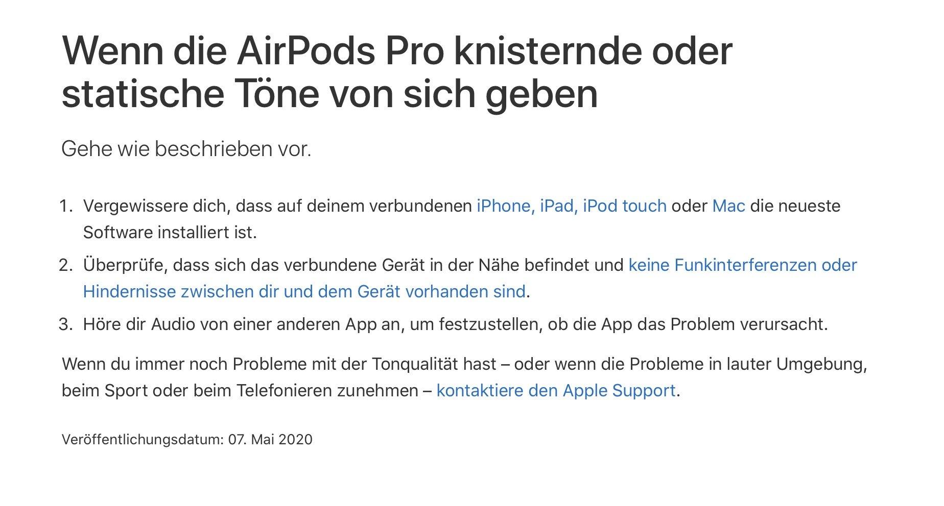 Apple Airpods Pro knacken