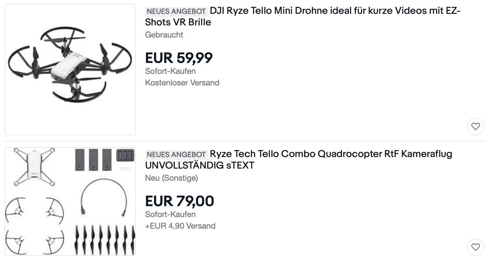 DJI Ryze Tello günstig kaufen