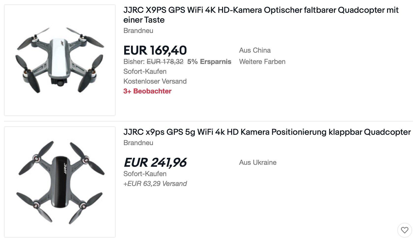 JJRC X)PS Drohne