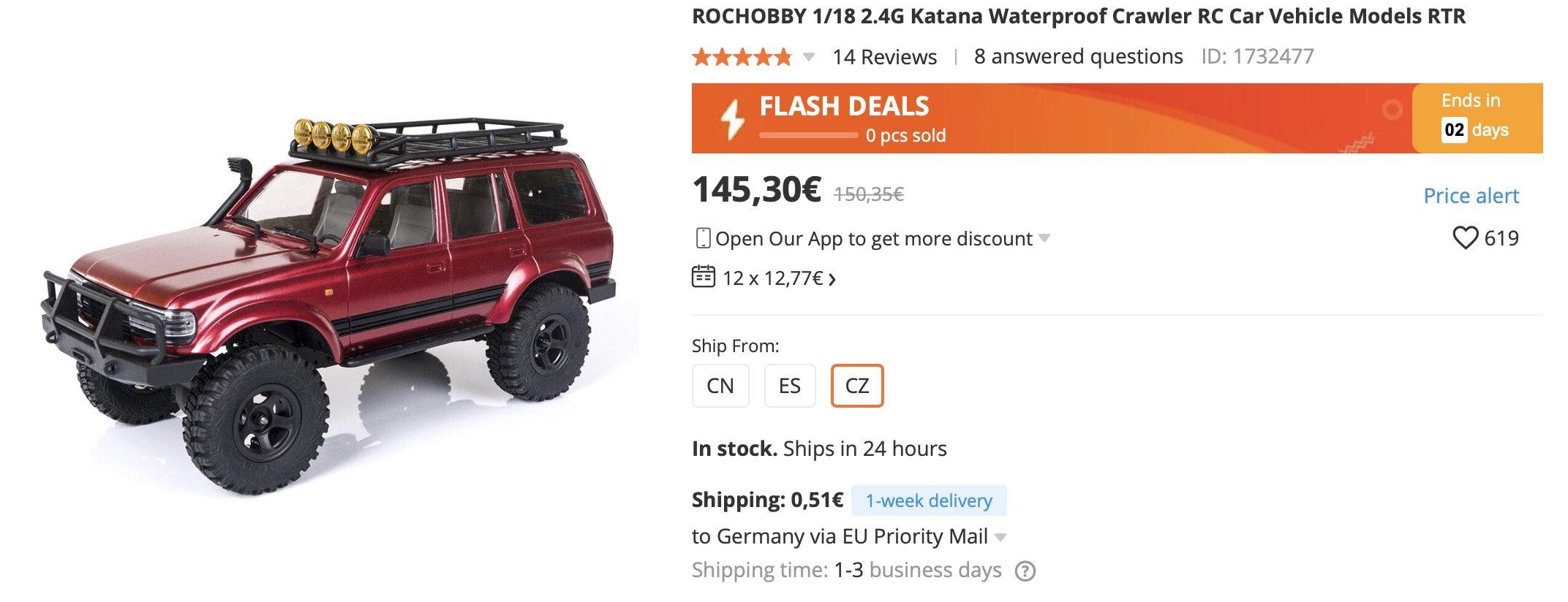 RC Crawler von RocHobby Katana - sehr schöner Rock Crawler für wenig Geld