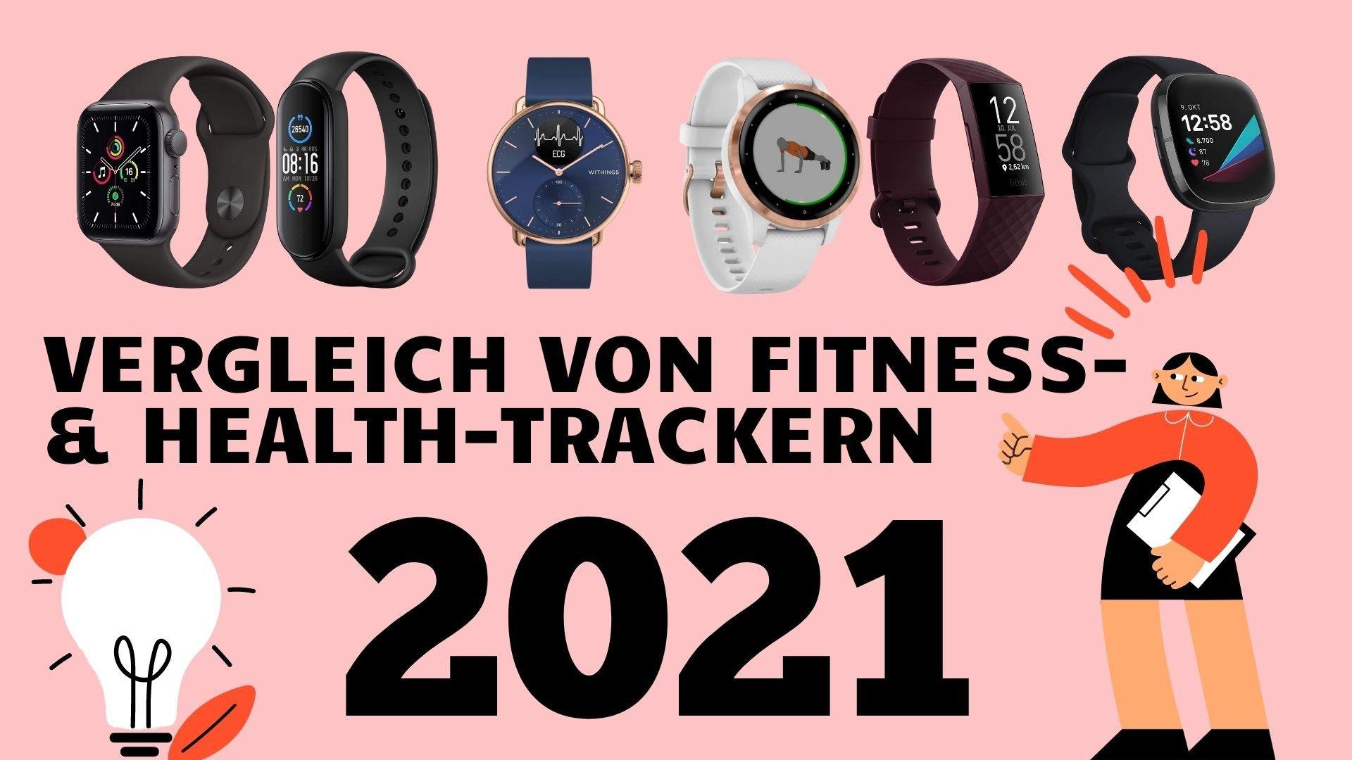 Vergleich von Fitness- und Gesundheits-Smartwatches 2021