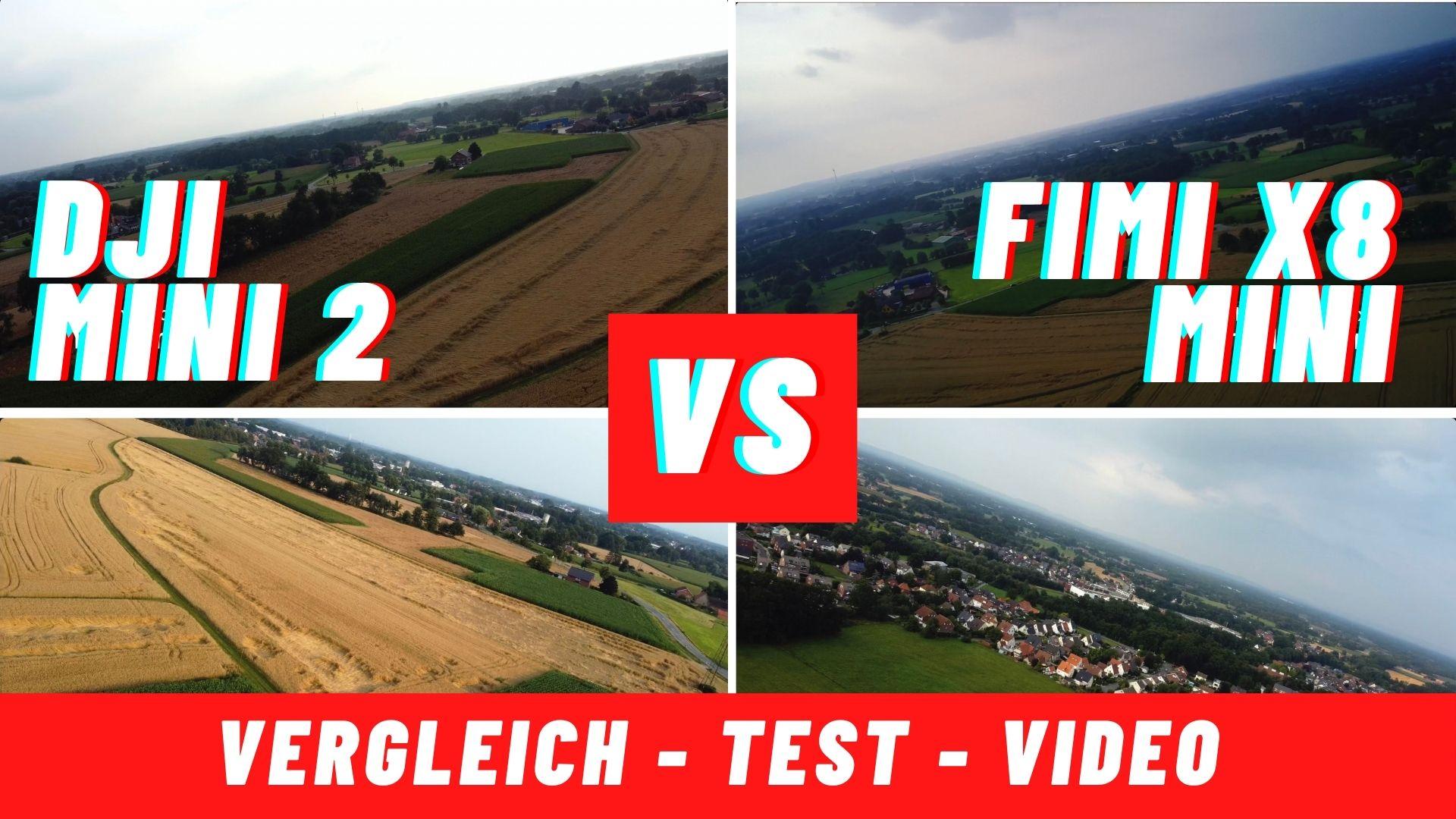 DJI Mini 2 vs Fimi x8 Mini – welche Drohne ist besser?